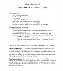 Chemistry Lab Report Sample Experiment Template Physics Example