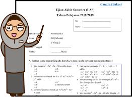 Buku siswa matematika kurikulum 2013 revisi 2017. Soal Uas Matematika Peminatan Kelas Xi Semester 1 Teori Dan Soal