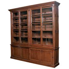 cherry bookshelves with glass doors t m l f tall