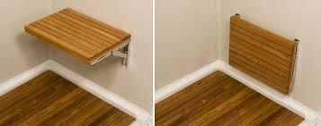 teak shower bench wall mounted dumound monumental bathroom seats my web decorating ideas 1