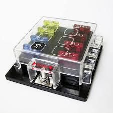 8 way circuit car fuse box 32v dc 25a unviersal truck auto car blue sea fuse block wiring diagram at Dc Fuse Box