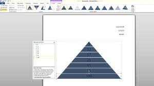 fundraising pyramid template microsoft word tutorial how to create a smartart pyramid youtube