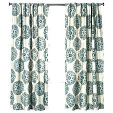 red shower curtain target curtains blue medallion w grey outer sheer white and