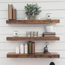 Salvaged Wood Floating Shelves Cool Reclaimed Floating Wood Shelves Thick Reclaimed Wood Floating