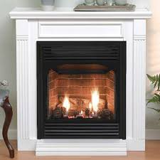 24 vail vent free fireplace with liner and mantel millivolt pilot