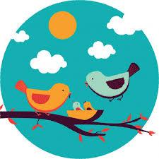 premium vector cute bird family