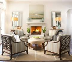 More Straight Lines And Simple Furniture In This Family Room. Light Creams  And Whites With