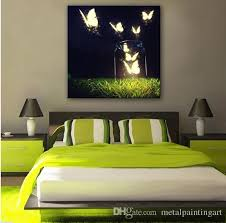 2018 butterfly in the air abstract wall art led canvas spray painting light up framed artwork decoration bedroom living room from metalpaintingart  on wall art frames for bedroom with 2018 butterfly in the air abstract wall art led canvas spray