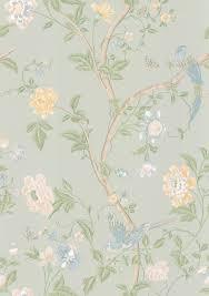 laura ashley summer palace eau de nil wallpaper main image