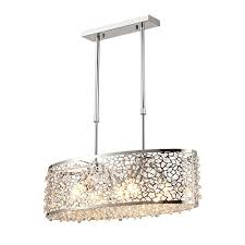 saint mossi modern k9 crystal oval chandelier lighting flush mount led ceiling light fixture pendant lamp