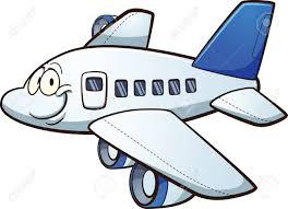 Airplane Clip Art Happy Cartoon Airplane Vector Clip Art Illustration With Simple