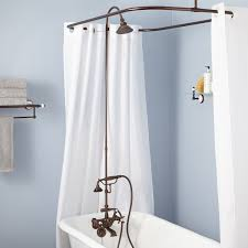 English Shower Conversion Kit with Hand Shower - Brass Shower Head ...