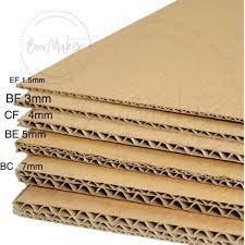 KOTAK LAPIK KRAFT PAPER BOARD DIY Handmade corrugated carton 318mm x 250mm  **READY STOCK现货** | Shopee Malaysia