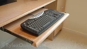 Oak Desk Keyboard Tray ...