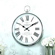 large pocket watch wall clock large pocket watch wall clock oversized silver oval clocks big large