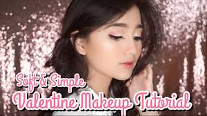 soft simple valentine makeup tutorial for beginner eng sub you