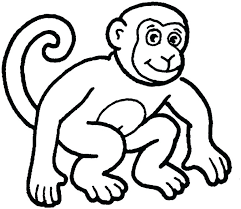 Outline Of A Monkey Coloring Page Monkey Outline Monkey Coloring