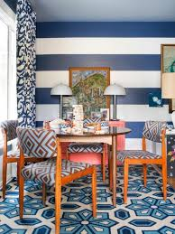 Blue And White Striped Game Room