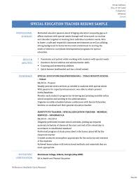 Inspiration Resumes For Experienced Teachers Sample Specialcation