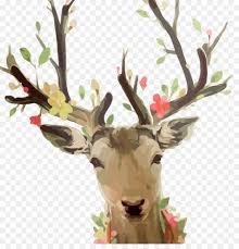 deer oil painting canvas elk deer