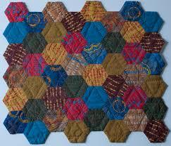 I've Been Hexed - Lynn Carson Harris & Lynn's hexagon quilt Adamdwight.com
