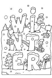 Small Picture Winter season coloring pages for kids ColoringStar