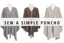 Poncho Sewing Pattern Cool How To Sew A Simple Poncho