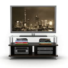 tv stand with frosted glass top espresso 88335834