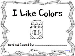 Color Word Books Worksheets For All Download And Share Worksheets