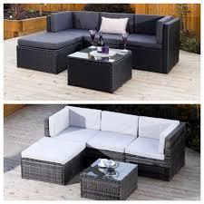 rattan furniture covers. £310 Black Grey Corner Modular Rattan Weave Sofa Set Garden Furniture + Cover £ Covers