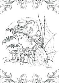 Gothic Coloring Pages Girl Fairy Printable Ispeakanglaisclub