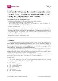 Pdf Software For Obtaining The Solar Coverage Of A Solar