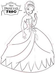 disney princess tiana coloring pages princess coloring page kids disney princess tiana printable coloring pages