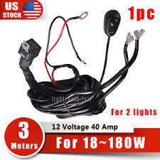 wiring harness kit fuse switch relay for offroad light bar dual led image is loading wiring harness kit fuse switch relay for offroad