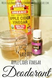 easy diy apple cider vinegar deodorant recipe beauty essentialoils mountain mamas