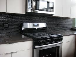 best black glass tiles for kitchen backsplashes
