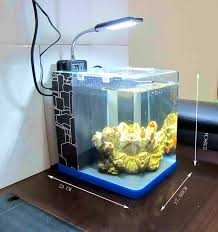 fish for office. Alluring Modern Fish Aquarium Tanks Office Tank Side Logo Blue For E
