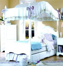 Girls Canopy Bed Frame White Canopy Bed Frame Bedroom Agreeable ...