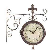 york station double sided clock thermometer by smart garden giftware mill race garden centre