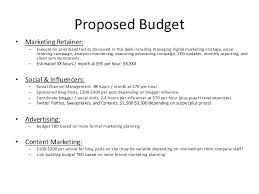 Budget Proposal Sample 5 Example Of Proposal Budget Sample Project
