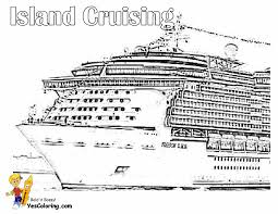 Free Printable Cruise Ship Coloring Pages Murderthestout