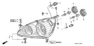 honda online store 2005 crv headlight (2) parts 2002 Honda CR-V Engine Diagram 2005 cr& 45;v ex 5 door 5mt headlight (2) diagram