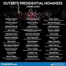 Us Cabinet Secretaries Duterte Presents Cabinet Inquirer News