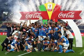 Coppa Italia Final Napoli versus Juventus Redactionele stockfoto -  Stockafbeelding