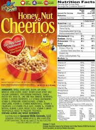 solved understanding nutrition labels instructions for t perning to honey nut cheerios nutrition label