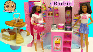 cake cookie balance game challenge sweet chef bakery owner playset barbie dolls unboxing