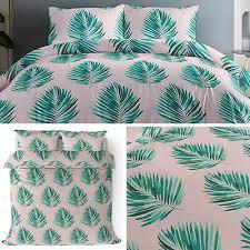pink duvet covers blush tropical palms