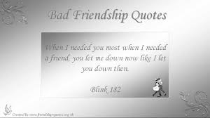 Bad Friendship Quotes Quotes News