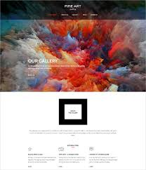 Wordpress Website Templates Fascinating 28 Artists Website Themes Templates Free Premium Templates