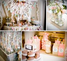 Kara's Party Ideas Cookies and Milk Vintage Shabby Chic 1st Birthday Party  Planning Ideas